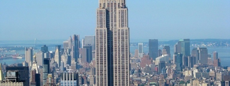 The Empire State Building during the day
