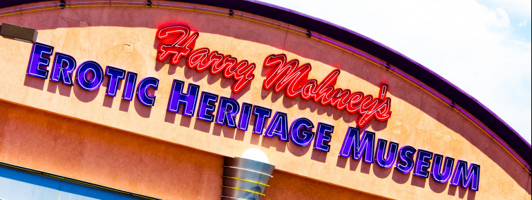 Erotic Heritage Museum is located at the heart of Las Vegas, at Sammy Davis Jr. Drive.