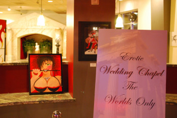 Las Vegas is known for impromtu weddings. No wonder it is also home to the world's only erotic wedding chapel.