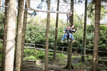 Up to 10 meters above the ground you move in the new Fly-Line in Winterberg.