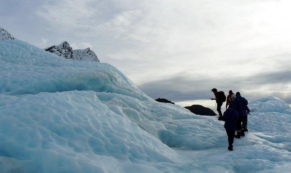 Franz Josef Glacier On South Island Of New Zealand Tourist Attraction