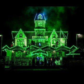 Courage is not only needed on the rollercoasters, but in this spooky haunted house as well.