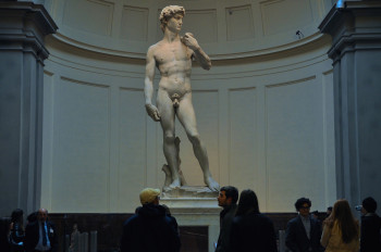 Michelangelo's David statue is one of the highlights of the gallery.
