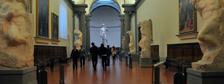 The Florence Academy of Art is one of the most visited places in Italy.