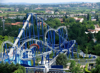 The Blue Tornado rollercoaster promises adrenaline pure