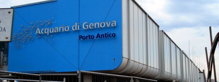 The aquarium is located in the port of Genova
