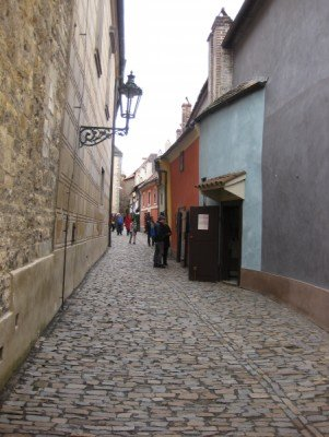 The lane is only a few hundred feet long, but attracts many tourists.