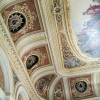 A detailed view of the ceiling ornaments