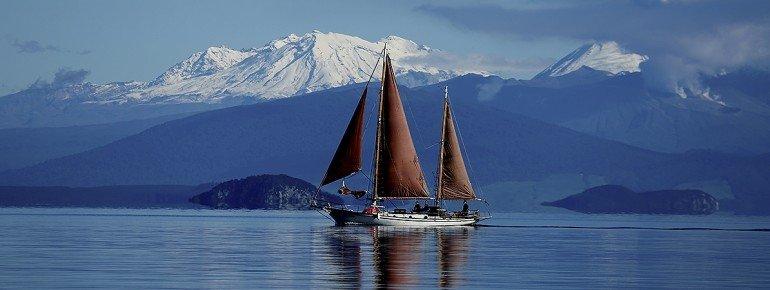 Sailing on Great Lake Taupo