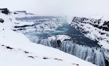 The waterfall in winter.