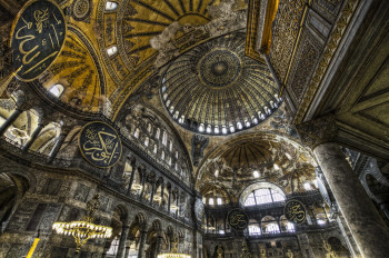 The large dome is one of the biggest in the world.