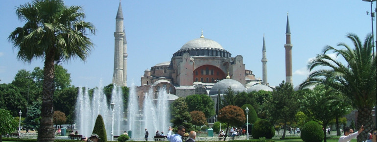 Hagia Sophia's unique architecture makes it one of Istanbul's most important landmarks.