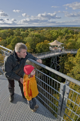 From the tower, you enjoy a great panoramic view.