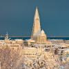 Reykjavík in winter.