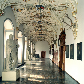 One of the magnificent hallways built by Frederick IV.