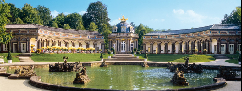 Exterior view of the Hermitage in Bayreuth.