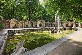 The lower grotto in the courtyard garden of the Hermitage.