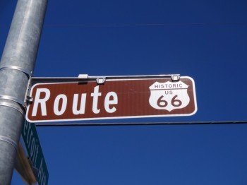 Street sign of Route 66