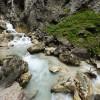 Hammersbach stream cuts its way through Höllental valley.