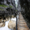 The gorge is up to 150 metres deep.