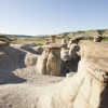 Hoodoo Rock Formations are partially up to 60 million years old