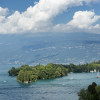 Isola del Garda is located at the west of Lake Garda, only a few hundred metres off the bank.