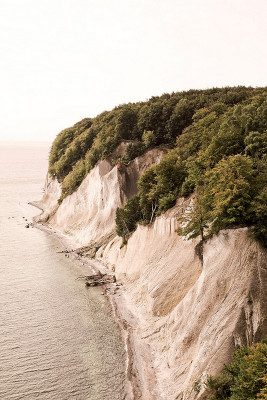 The history of Rügen's chalk coast begins at the end of the Cretaceous period, around 70 million years ago.