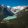Bird's eye view on Lake Louise