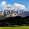 The Latemar mountain group, together with the Catinaccio, is a UNESCO World Natural Heritage Site.