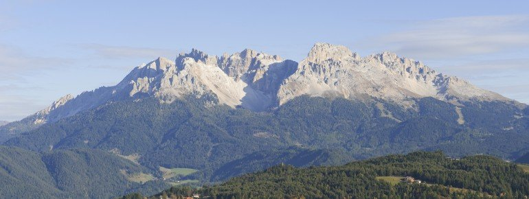 The Latemar Mountains belong to the South Tyrolean Dolomites