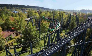 Fire Dragon rollercoaster takes you back to the Middle Ages.