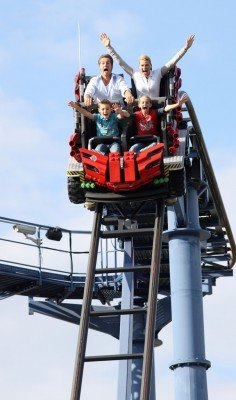 Project X is one of the highest roller coasters.