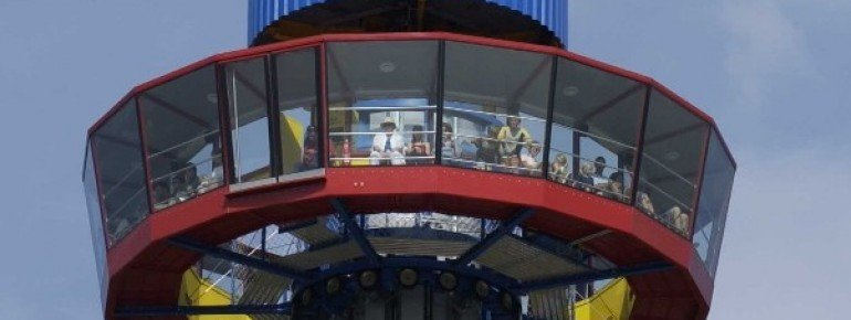 Enjoy the view from the observation tower.