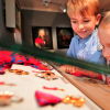 Children are fascinated by historical samples