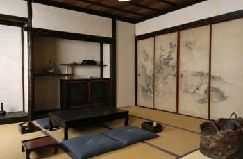 Display of a traditional Japanese interior.