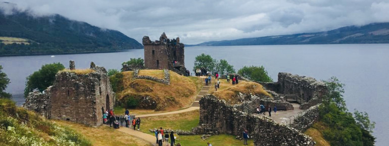 Urquhart Castle is a popular destination around Loch Ness.
