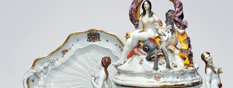 Swan dinnerware, Meißen, 1738/40