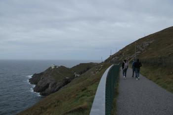 Along a coastal path you walk to the Mizen Head Signal Station.