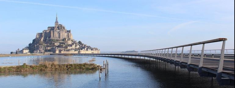 Mont Saint-Michel in 2014 with a new bridge