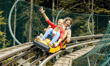 The year-round toboggan ride Alpsee Coaster is around 2.8km long.