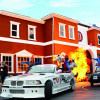 Explosive action and brave stunts at the Crazy Cops New York show.