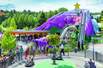 At Dora's Big River Adventure, you rush down the waterfall in top speed.