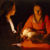 """Georges De La Tour (1593-1652), """"The New-born"""", painted in the 1640s, oil on canvas"""