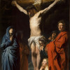 "Jacob Jordaens (1593-1678), ""Crucifixion"", oil on wood panel"