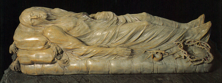 """""""The Veiled Christ"""" by Giuseppe Sanmartino from 1753."""