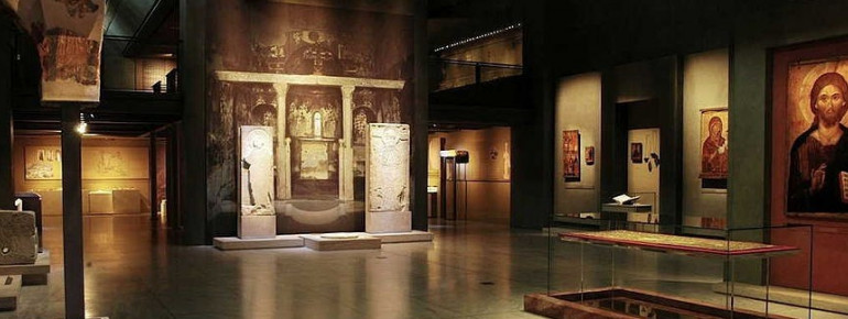 An exhibition room of the Museum of Byzantine Culture