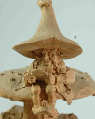 Hand-made wooden figure