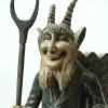 Sculpture depicting a devil