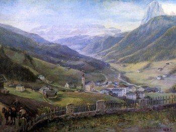Painting by Josef Moroder Lusenberg