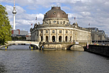 Bode Museum can be found at the tip of the island.